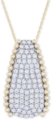 """Wrapped in Love Diamond Pave Beaded 18"""" Pendant Necklace (1 ct. t.w.) in 14k Gold"""
