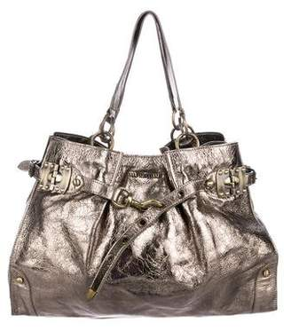Miu Miu Metallic Leather Tote