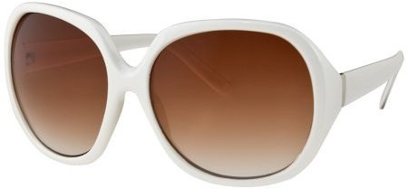 Womens' Mossimo Large Round Plastic Sunglasses - White