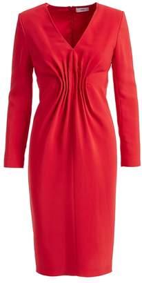 Wtr WtR Felia Red Cady Bodycon Midi Dress