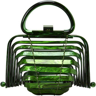 Lilleth Mini Collapsible Acrylic Tote - Green Cult Gaia wXstU