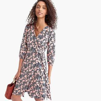 J.Crew Tall wrap dress in 365 crepe blush bouquet