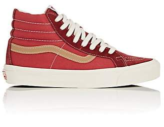 a9a4f40a47 Vans Women s Sk8-Hi Suede   Canvas Sneakers - Red