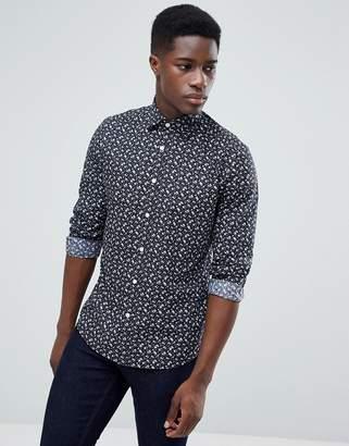 Esprit (エスプリ) - Esprit Slim Fit Smart Shirt In Floral Print