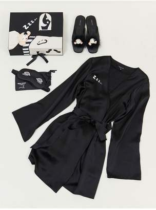 Morgan Lane Lanie Gift Set - Slippers, Mask, And Robe