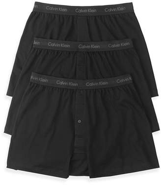 Calvin Klein Cotton Classics Knit Boxers, Pack of 3
