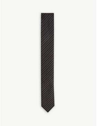 BOSS Metallic striped silk tie