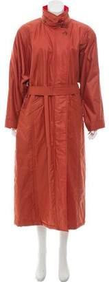 Aquascutum London Striped Long Coat