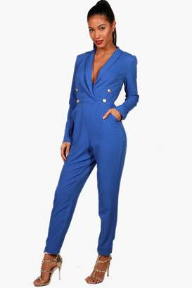boohoo Military Blazer Jumpsuit