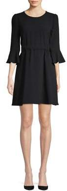 Diane von Furstenberg Augustine Bell-Sleeve Mini Dress