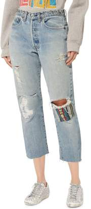 ROYAL WORKSHOP Bowie Studded Cropped Jeans