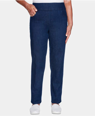 Alfred Dunner Petite Greenwich Hills Allure Denim Pull-On Pants