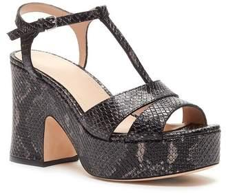 Pour La Victoire Nolla Snake Embossed Platform Sandal