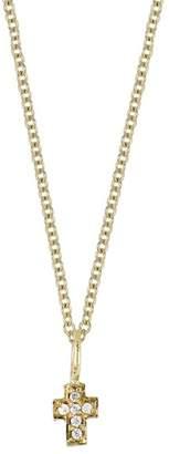 Bony Levy 18K Yellow Gold Diamond Cross Pendant Necklace - 0.02 ctw