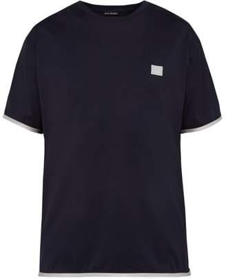 Acne Studios Elmo Face Patch T Shirt - Mens - Navy
