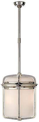 Visual Comfort & Co. Milton Large Lantern - Nickel/White