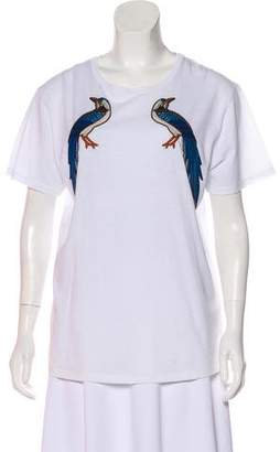 Gucci Embroidered Short Sleeve T-Shirt