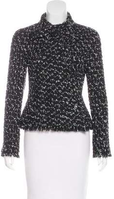 Chanel Tie-Accented Tweed Jacket