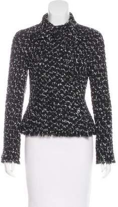 Chanel Tie-Accented Tweed Jacket