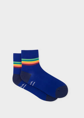 Paul Smith Mens Indigo Artist Stripe Trim Cycling Socks