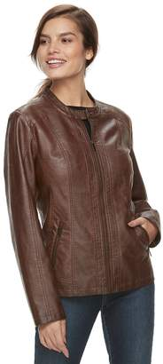Moto Women's Sebby Collection Faux-Leather Jacket