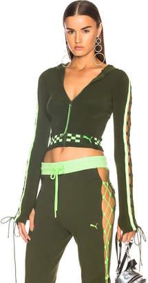 FENTY PUMA by Rihanna Laced Zip Crop Hoodie