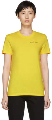 Off-White Yellow Casual Quotes T-Shirt