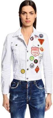 DSQUARED2 Scout Patches Cotton Denim Jacket