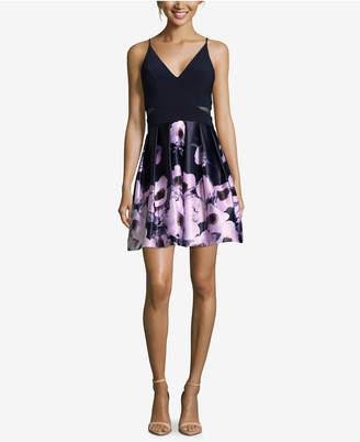 Xscape Evenings Floral-Print Fit & Flare Dress
