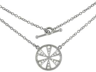 Cathy Waterman Geo Reverso Necklace - Platinum