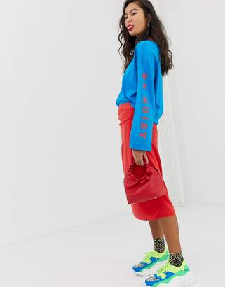 Noisy May side wrap skirt