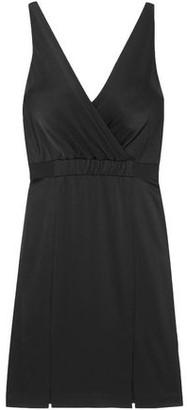 Rachel Zoe Wrap-Effect Satin-Crepe Dress