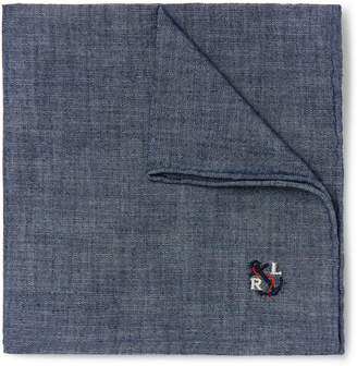 Polo Ralph Lauren Embroidered Cotton-Chambray Pocket Square