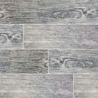 "MSI Sonoma Driftwood 6"" x 24"" Ceramic Wood Look Tile in Gray"