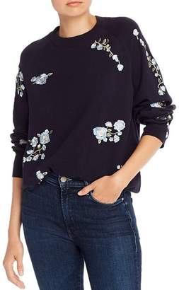 French Connection Rielle Floral-Embroidered Sweater