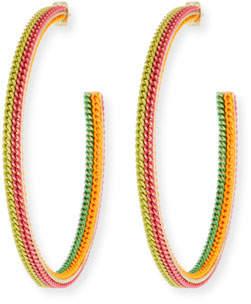 Rosantica Millefili Neon Chain Hoop Earrings