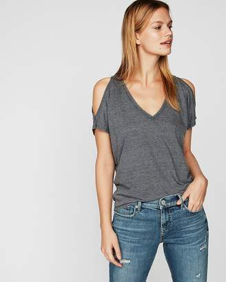 Express Petite One Eleven Cold Shoulder London Tee