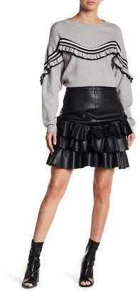 Vero Moda Amanda Butter Faux Leather Skirt