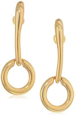 Halston H Sculptural Links Women's Circle Stick Drop Earrings