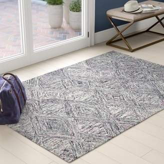 Bronx Ivy Divernon Hand-Woven Wool Charcoal/Purple Area Rug