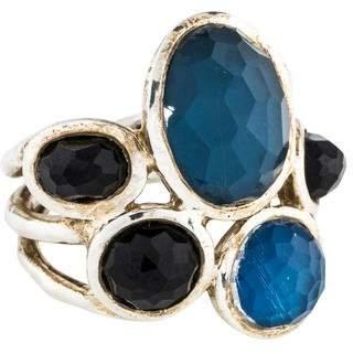 Ippolita Quartz, Mother of Pearl Doublet & Onyx Wonderland Ring