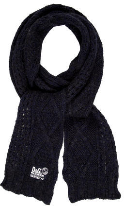 Dolce & GabbanaD&G Wool Cable Knit Scarf