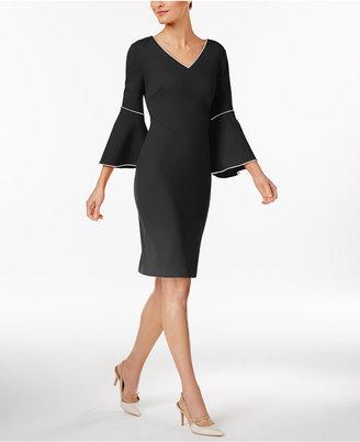Calvin Klein Bell-Sleeve Sheath Dress $129.50 thestylecure.com
