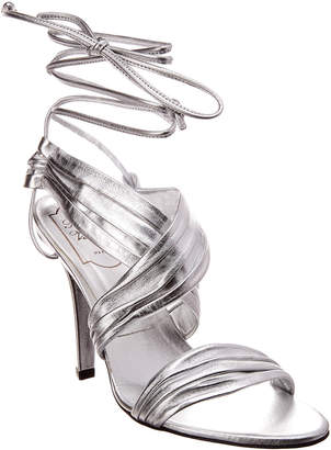 Roger Vivier Tie-Up Metallic Leather Sandal