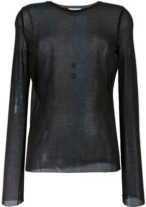 Nina Ricci sheer longsleeved T-shirt