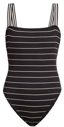 Solid & Striped The Riley Striped Swimsuit - Womens - Black Stripe
