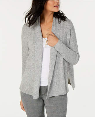 Style&Co. Style & Co Mixed-Rib Open-Front Cardigan