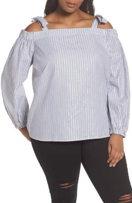 MICHAEL Michael Kors Stripe Off the Shoulder Top