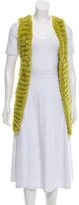 Adrienne Landau Fur Knit Vest