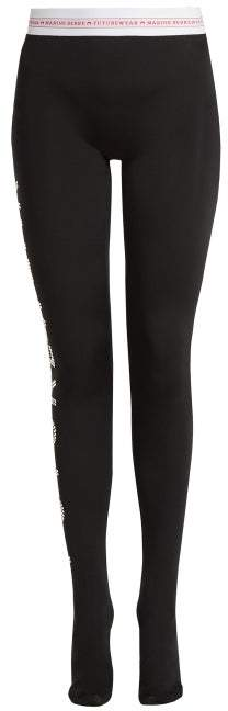 Marine Serre - X Futurewear Jersey Leggings - Womens - Black